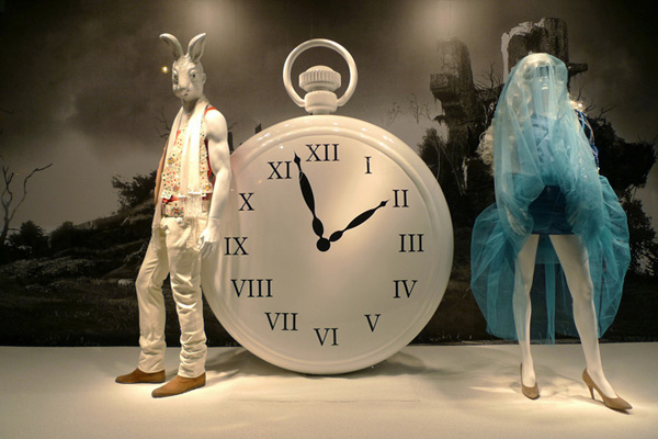 Alice In Wonderland at Printemps Maison Martin Margiela