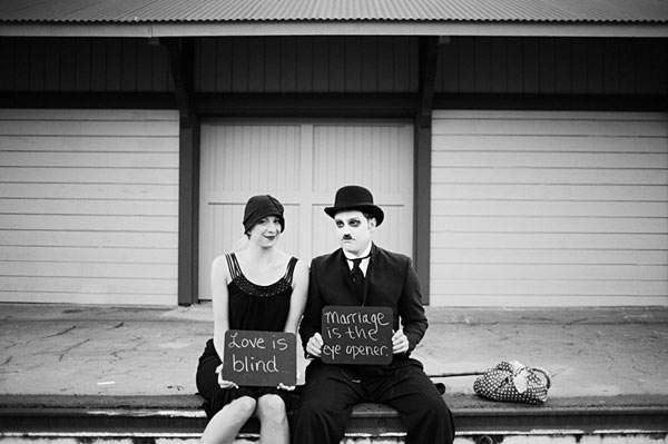 Charlie chaplin silent movie inspired engagement1