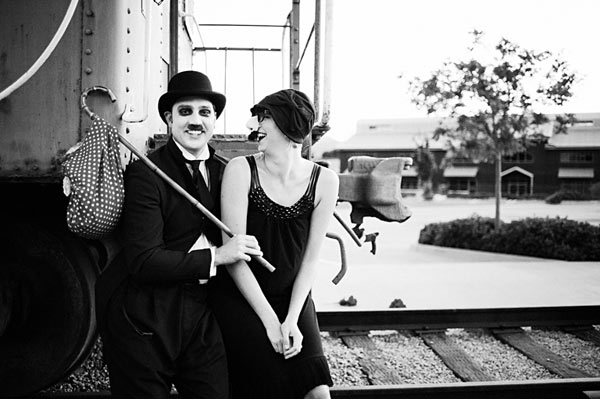 Charlie chaplin silent movie inspired engagement5