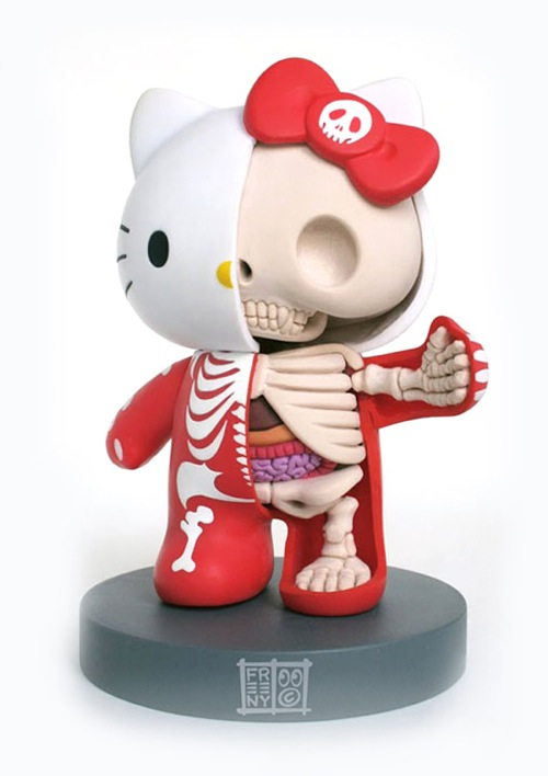Hello kitty anatomy sculpture 2